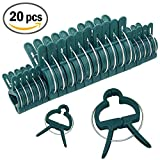 20 PCS Plant and Flower Clips - Gardening Spring Clips for Plants, Stems Support by Sago Brothers