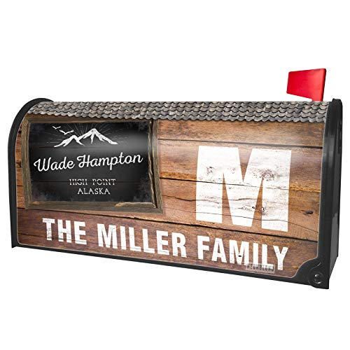 NEONBLOND Custom Mailbox Cover Mountains Chalkboard Wade Hampton High Point - Alaska