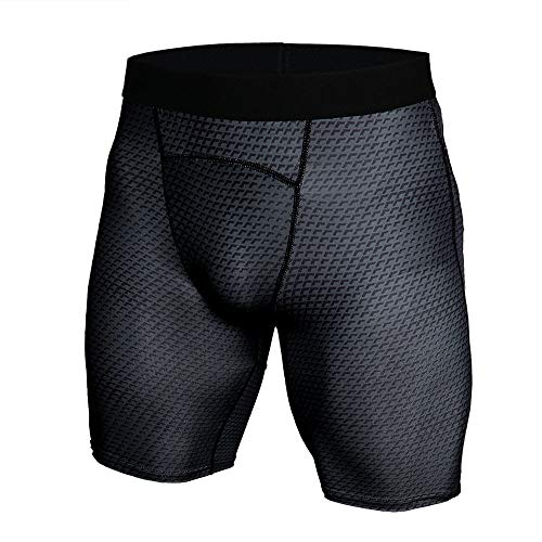 (JJLIKER Men Snake Compression Sport Shorts Boxer Brief Underwear Baselayer Running Cool Dry Athletic Gym Yoga Pants Dark Gray)