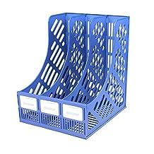3 Section Divider Paper Magazine Holder File Rack Storage Dispay Office Home Desktop Organiser