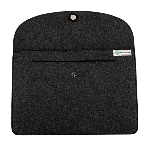 Mojopanda Virgin Organic Wool Felt 13-13.5 Inch Macbooks, Laptop Grey Sleeve Case Carrying Bag With 2 Back Pouches For Mobile Phones And An Inner Packet For Tab, Ipad Or Power Chord. by MOJO PANDA (Image #5)'