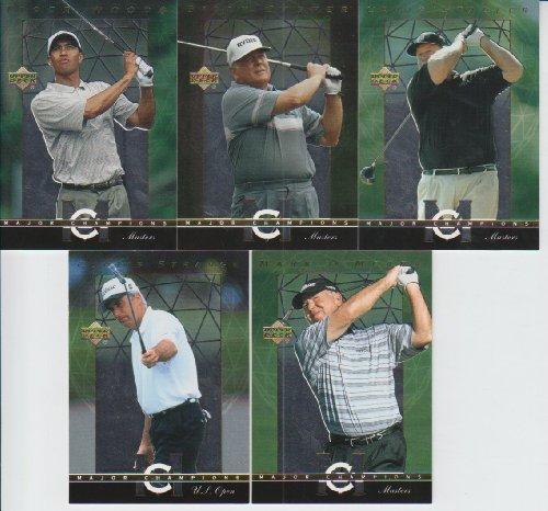 (2003 Upper Deck Golf Major Champions 5 Card Lot #7,10,14,27,39)