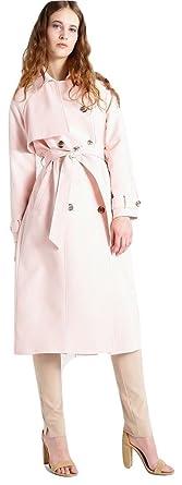 River Island EX mujer rosa pastel para mujer muy grande Gabardina - Rosa, UK 8