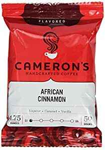 Cameron's Specialty Coffee, African Cinnamon, 1.75 Ounce, Ground Coffee, Bags (Pack of 24)