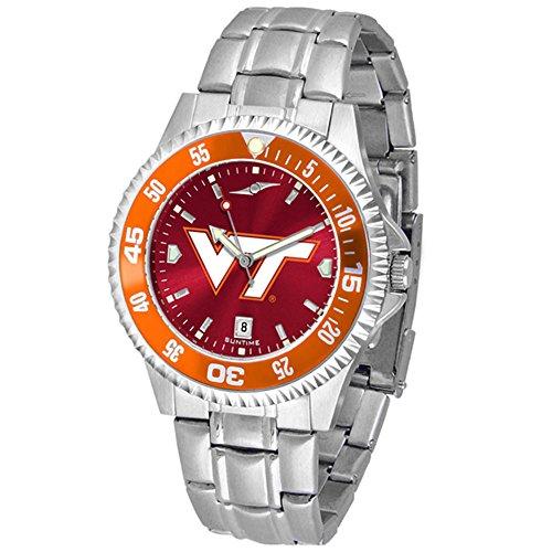 Virginia Tech Hokies Competitor Steel AnoChrome Color Bezel Men's Watch (Virginia Watch Competitor)