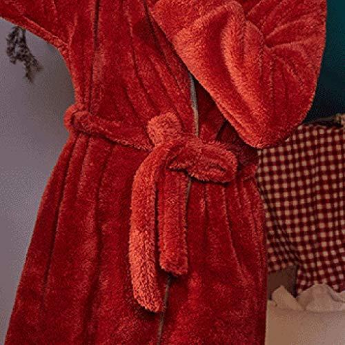 Manga Suelto Femeninos Larga Coral Toosd Y Acolchado A Domicilio E Bata Terciopelo Otoño De Informal Cálido Servicio Invierno B6xwqR0zcx