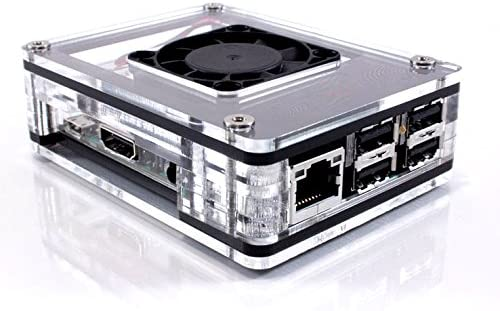 Zebra Fan Top UPGRADE Kit for ASUS Tinker Board//Tinker Board S Case ~ C4Labs