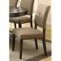 Coaster Home Furnishings 103572 Casual Dining Chair, Cappuccino, Set of 2