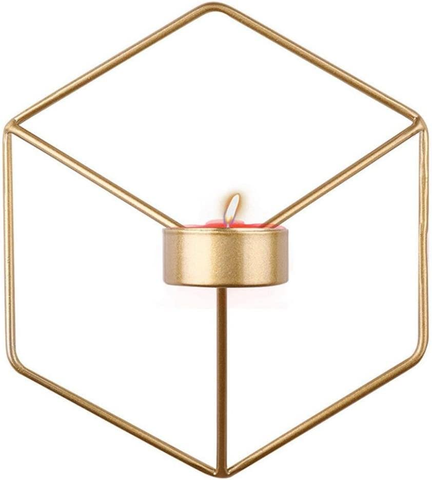 A Wand-Kerzenhalter aus Metall 21 x 12 x 18.5 cm,3D Geometrische Wand Kerzen Halter Leuchter Kerzenhalter Kerzenleuchter