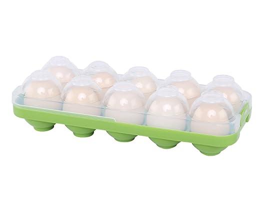 Soporte para huevos con tapa, el mejor contenedor de huevos para ...