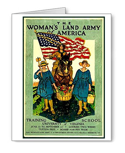 - Women's Land Army Vintage Poster Note Cards Set of 8 with Envelopes