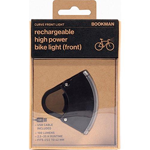 Bookman Curve Rechargeable High Power Front Bike Light - 100 Lumens (Black)
