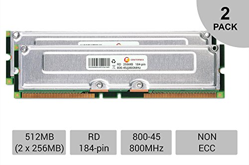 512MB KIT 2 x 256MB Dell Dimension 8250 B 1.13R 1000 1000R 1130 Ram Memory by CENTERNEX