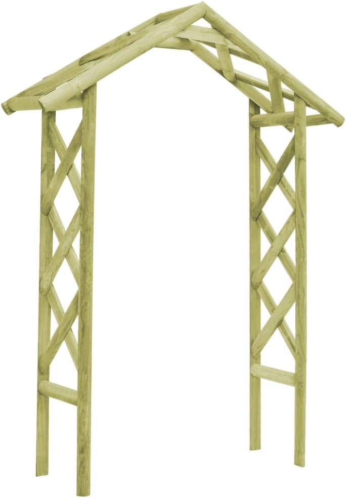 ghuanton Puerta celosía Madera Pino Verde impregnada FSC 135x45x232 cmCasa y jardín Jardín Artículos de Exterior Estructuras de Exteriores Pérgolas, Arcos y enrejados de jardín: Amazon.es: Hogar