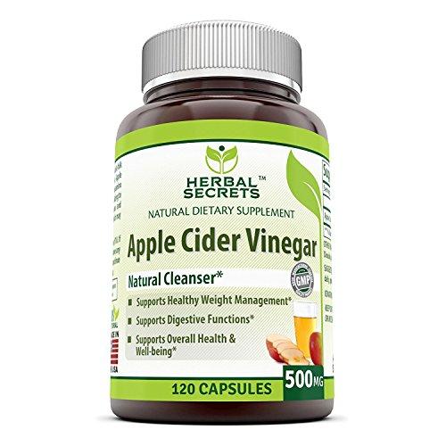 Herbal Secrets Apple Cider Vinegar 500mg 120 Capsules
