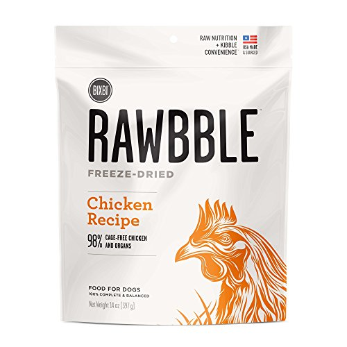 BIXBI Rawbble All-Natural Freeze Dried Dog Food, Chicken, Medium, 14-Ounce by BIXBI