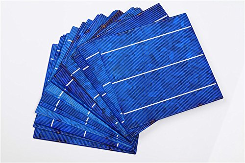 10pcs 6x6 Polycrystalline Solar Cell for DIY 40W Solar Panel High Efficiency Charger