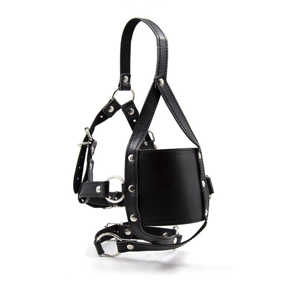TwoS Mouth Plug Leather, Fetish Restraint Bondage Mouth Mask BDSM