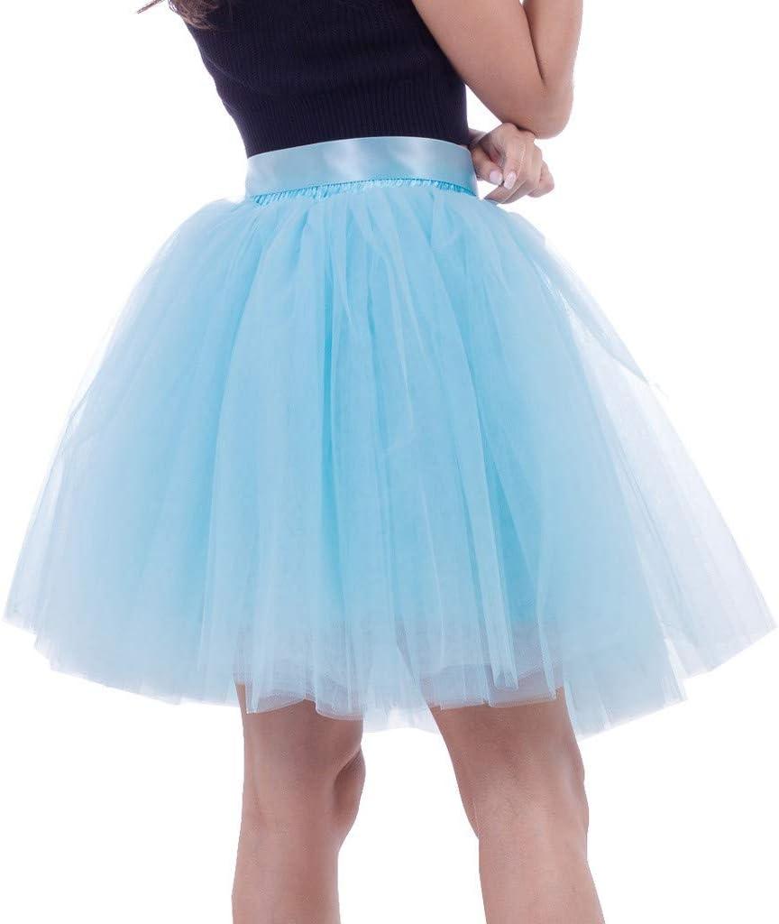 XNBZW - Falda tutú para disfraz de mujer azul azul celeste talla ...
