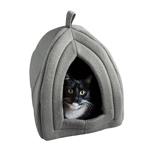 Cat Pet Bed Igloo Soft Indoor Enclosed Covered Tent