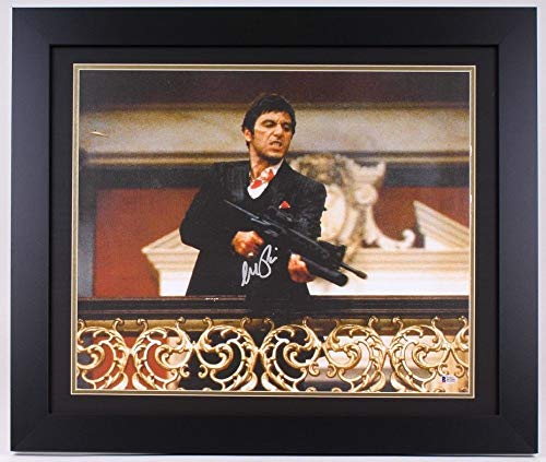 - Al Pacino - Autographed Signed Framed Scarface Canvas Photo 23.5 X 27.5 Beckett Itp Coa