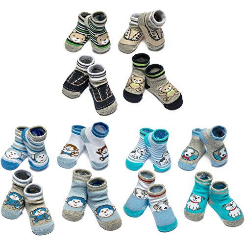 Little Me 12 Pack Bootie Gift Set for Infant Boys & Girls, 0-12 Months Infant Girl Booties