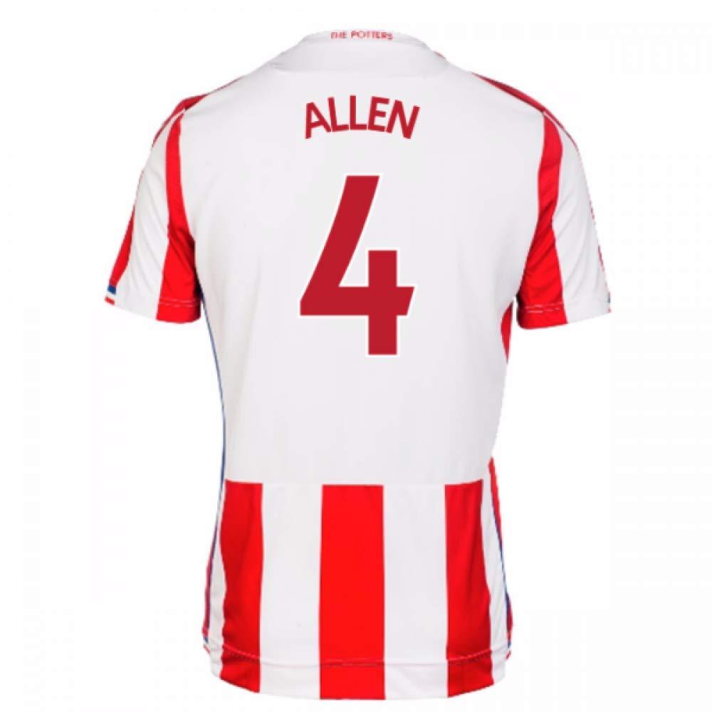 2017-18 Stoke City Home Football Soccer T-Shirt Trikot (Joe Allen 4)