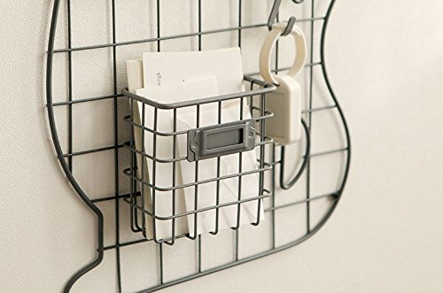 Daily Ylike Mesh Board Metal Wire Mesh Grid Panel For Photo Hanging Display, Multi Funtion Wall Storage (Hanging Basket(Grey))