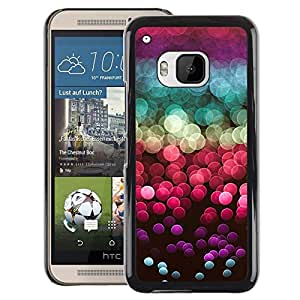 A-type Arte & diseño plástico duro Fundas Cover Cubre Hard Case Cover para HTC One M9 (Glitter Sea Sun Reflection Red Purple)