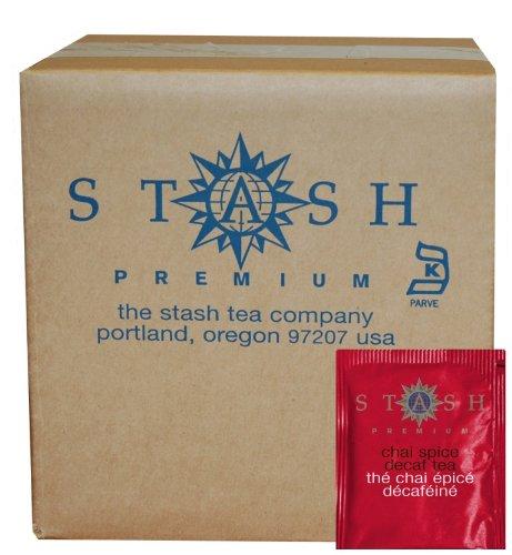 Stash Tea Decaf Chai Spice Black Tea, 100 Count Box of Tea Bags in Foil