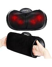 NURSAL Cuscino per Massaggio Impastante in Profondità Shiatzu 3D e 4 Modi Operativi per l'Affaticameno del Collo, Spalle e Schiena. Sollievo dalla Rigidità e dal Dolore in Ufficio, a Casa