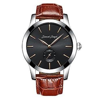 Samuel Joseph Herren Armbanduhr - 43 mm - spezielles Design - Meisterhandwerk - mit Galaxie-schwarzem Zifferblatt - Stahl-