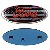 "Automotive : 2004-2014 Ford F150 Front Grille Tailgate Emblem, Oval 9""X3.5"", American Flag Decal Badge Nameplate Also Fits for 04-14 F250 F350, 11-14 Edge, 11-16 Explorer, 06-11 Ranger"