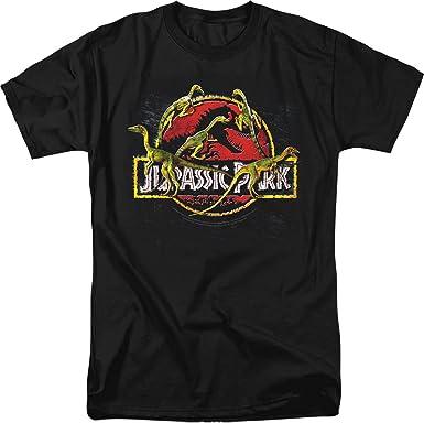 Jurassic Park Dinosaur Action Movie Something Has Survived Women/'s T-Shirt Tee