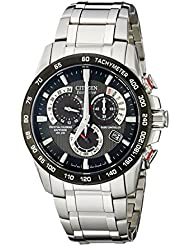 Citizen Mens Eco-Drive Perpetual Chrono Atomic Timekeeping Watch with Day/Date,  AT4008-51E