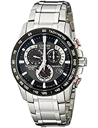 Men's Eco-Drive Perpetual Chrono Atomic Timekeeping Watch with Day/Date, AT4008-51E