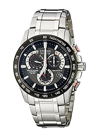Citizen Eco-Drive Men's AT4008-51E Perpetual Chrono A-T Stainless Steel Watch (Chrono Watch Sport)