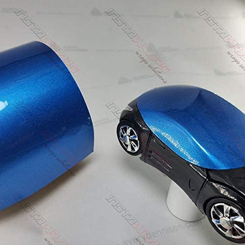 Avery SW900 Gloss Bright Blue Metallic | 646-M | Vinyl CAR WRAP Film (5ft x 50ft (250 Sq/ft)) w/Free-Style-It Pro-Wrapping Glove