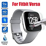 Lovewe Fitbit Versa Screen Protector,Waterproof HD Tempered Glass LCD Screen Protector Film for Fitbit