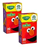 Curad Sesame Street Adhesive Bandages - Open Sesame to Hear Elmo Talk! - 40 Assorted Size Bandages