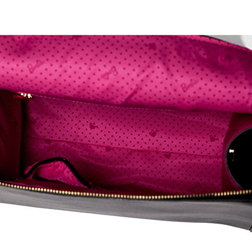 Barbie Bolso bandolera y baguette elegante de estilo chicas bolso casual para mujer BBFB561 28x14x23CM negro