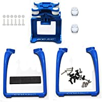 SAMLOO Upgreade Legs & Action Camera Gimbal Mount Holder Adapter Bracket for Syma X8 X8G X8HG X8C X8HC X8W X8HW MJX X101 RC Drone Quadcopter, Blue