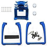 SAMLOO Upgreade Legs & Action Camera Gimbal Mount Holder Adapter Bracket for Syma X8 X8G X8HG X8C X8HC X8W X8HW MJX X101 RC Drone Quadcopter, Blue