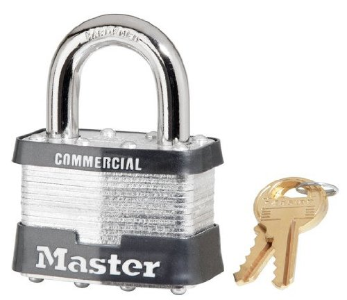 24 Pack Master Lock 5KA-A383 2'' Wide Keyed Alike Commercial Grade Laminated Padlock with 1'' Shackle Height - Keyed to A383 Key Code by Master Lock