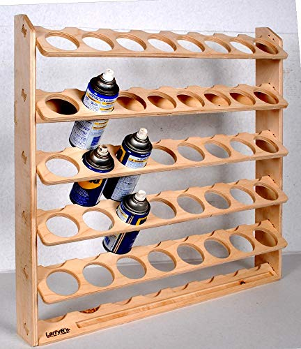 (40 Can Aerosol Spray Can Holder and Lube Storage Rack)