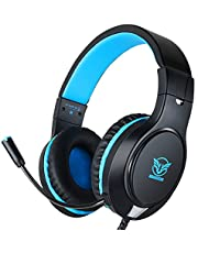 Gaming Headset for Xbox One, PS4,Nintendo Switch, Bass Surround and Noise Cancelling with Flexible Mic, 3.5mm Wired Adjustable Over-Ear Headphones for Laptop PC iPad Smartphones