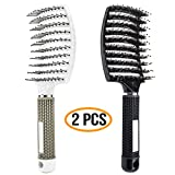 Vent Hair Boar Bristle Brush Blow Dryer Brush, Curved Vented...