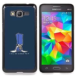 Qstar Arte & diseño plástico duro Fundas Cover Cubre Hard Case Cover para Samsung Galaxy Grand Prime G530H / DS (Farò Scienza - Divertente Cookie)