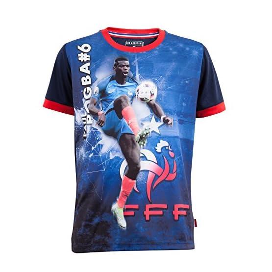 Maillot FFF - Paul POGBA - Collection officielle Equipe de France de Football - Taille enfant