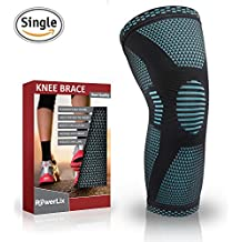 PowerLix Compression Knee Sleeve - Best Knee Brace for Meniscus Tear, Arthritis, Quick Recovery etc. – Knee Support For Running, CrossFit, Basketball and other Sports – FOR BEST FIT CHECK SIZING CHART